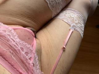 Got this cute pink outfit for my cute little cock.  Cute looking huh?