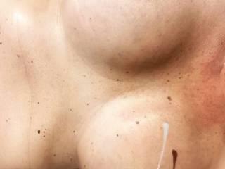 Big tits gets the final cumshot 😀