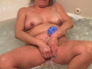 Melissa tells me that the best way to clean her pussy....is to masturbate in the tub.  Well...not sure I really believe that....but who am I to complain!
