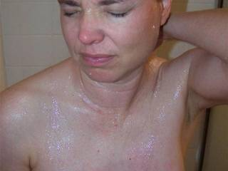 Just look at your buddy\'s wife or friend\'s while she showers in front of you with you styroking your hard cock.