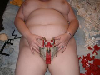 turning my whore girlfriend loose on my building blocks.slutty chaos ensues ;)