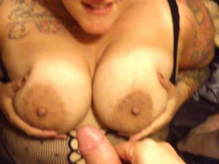 video of my cum shot on her tits