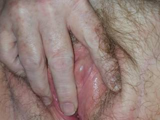 My GF, the Lovely Ms P, fingering her pussy.