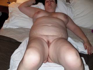 Tara laying on the bed waiting for someone to fuck her. Who wants to join me?