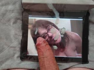 I asked for it....and lovewomen covers my face in thick semen,thank you lw!