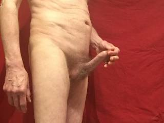 Perhaps you might like to stretch my foreskin for me.