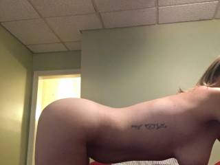 My wife had her bull take this to send me while I was at work. You try getting through the day knowing your wife's getting pounded on all fours. I couldn't wait to get home and fuck her