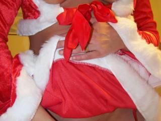 santa\'s little dirty girl..how do u think she should take care of santa?