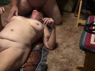 Giving the boyfriend some head before I suck on his balls and make him cum, of course I get to cum also. Would you like to see the rest of the video?