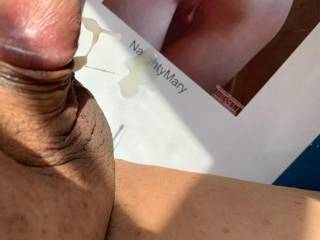 Promised a cum trib for Naughtymary.  Had a good cum for her.