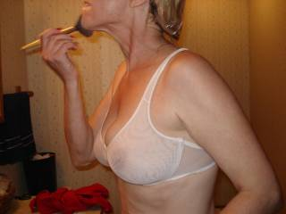 Get lots of smiles from guys when I wear this!! See thru bra with thin t-shirt shows my nipples clearly!!