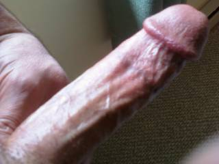 I want your lips sliding up and down my shaft, my cock laying on the tip of your nose, as you start to suck on my balls. I will be providing cream rinse for your hair, very soon, if you keep this up.