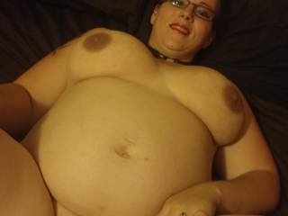 love her big belly and great tits! who want to fuck the shit out of her?