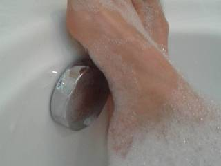 Just in the bath, fresh pedicure... it lead to some serious toe sucking from my husband a few minutes after this shot