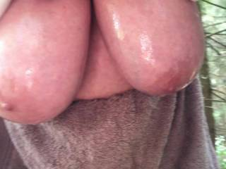 3 of 3 - more big oiled tits, more close up, more swinging, more dripping !