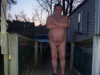 Enjoying a nice evening naked. Would you like to join me?