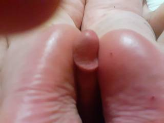 You like the view of my ass abd feet on this cock . Do you like the cock? Two big? Two small? Comments welcome please share