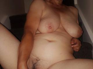 Making my shaved pussy wet and ready for cock