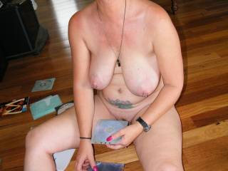 Well honey I love to have a lot of you, kissing, caressing, licking, sucking, findering nibbling and fuck for about for days and nights and the we could have some sun, pleasurable sx.  Righty?  You look grand nude.