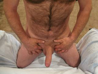 Mmmm so nice seeing the head just passing through the foreskin
