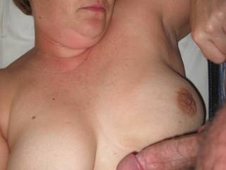 Should he tit fuck her
