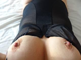 my nipples always get erect when I wear sheer lingerie