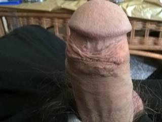 My semi hard cock needing to be played with.