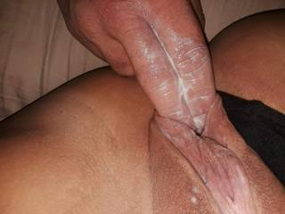 My man playing in my pussy... look tasty?