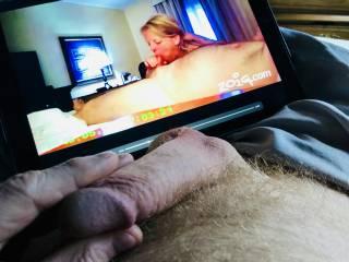 Love watching her suck cock.