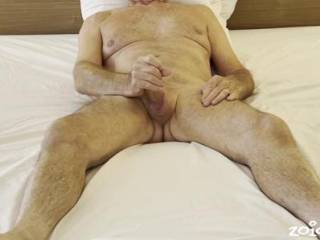 Mr. Floridaman having some fun with his cock.  Should I take over?  From Mrs. Floridaman