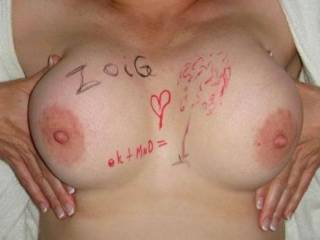 can i sign those to with a nice load of cum we might smear the ink would you mind?