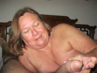 LUCKY GUY! I wish it was my cock she was playing with!