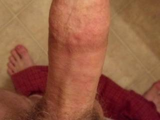 Just a quick cock pic I took for one of my fuck buddies. Maybe I can start taking pictures just for you?