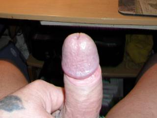 "Oooo, I hope that nice hot and very hard cock is for me to sit on and say ""Good morning Mr. hot cock, fill me up.""   I would still put it in my mouth first.   K"
