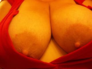 luv your dark areola and perky nipples...my mouth is starting to water...