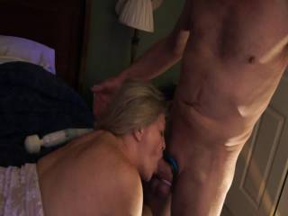 she really gets into it which makes for some of the best B.J.'s I have seen in a long time.and my girl friend loves her sucking skills too.