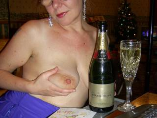 HAPPY NEW YEAR AND I REALLY COULD JUST LOOK AT YOUR HOT WIFE ALL NIGHT. IT DOESN'T GET ANY BETTER THAN HER.......