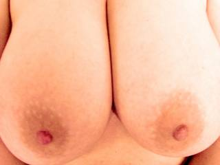 NEVER only 'just'.....they're perfect and oh so suckable! Would love to suck, tug, lick, flick and tease those nipples for you. Stunning!