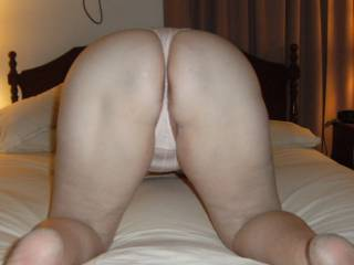 Now that is one sexy ass ......Dont you all agree....Would love to be squeezing and fondling that sweet ass and rubbing that sweet pussy throug the panties mmmm