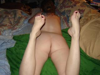 wife showing her sexy ass to you!