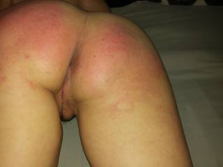 Spank my ass real good then tongue me and fuck me from behind  - pussy, ass, everything! :-)