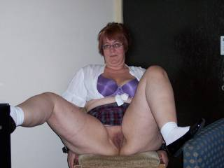 naughty school girl cant keep her legs together  what should we do?