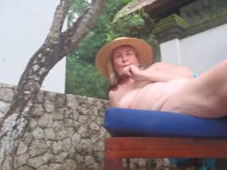 Enjoying the Bali sun