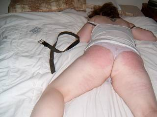 my 22 yr old sex slave got her ass warmed up