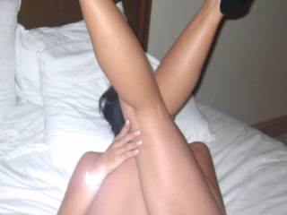 Like the legs? Want to spread them like a good little whore?
