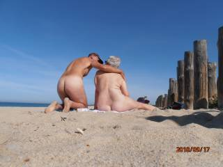 Mags and I found a nudist beach in France.  Went back several times including one Saturday when plenty of people around.  We both loved the sun on our bare skin.