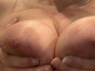 Showing me her sexy tits