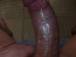 Mmmmm, let me sit on it and fuck you to orgasm...nice curve....delicious cock.  MILF K