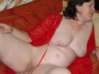full body photo showing tits and pussie