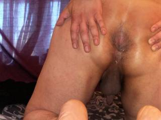 My tight brown hairy hole wanting a strapon inside to fuck me senseless, and have her way on my ass,I can return the favour later.